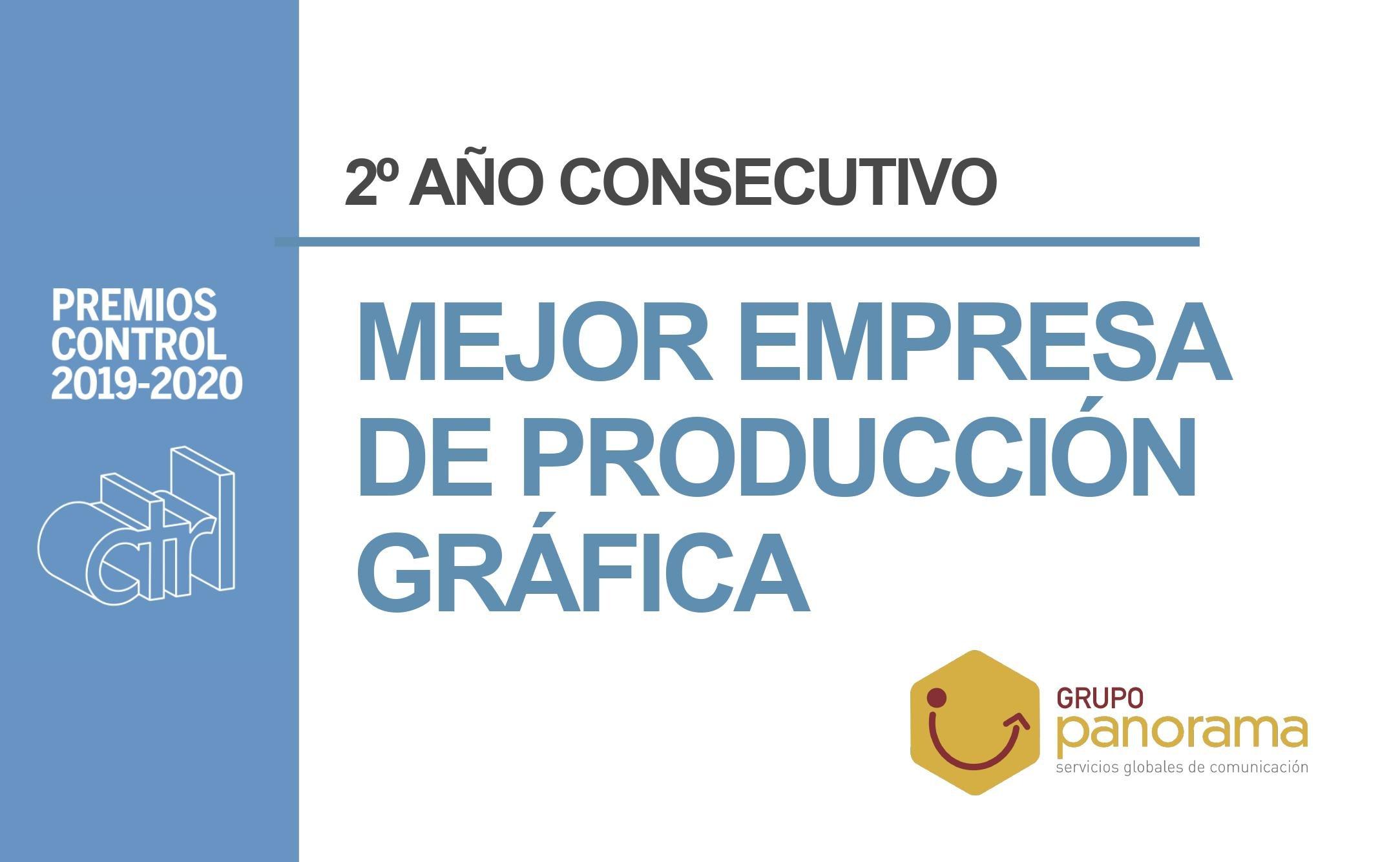 Premio Ctrl 2020 a Mejor Empresa de Producción Gráfica