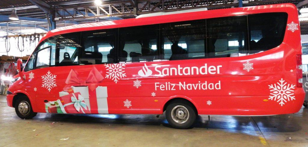 Rotulación Microbus Banco Santander