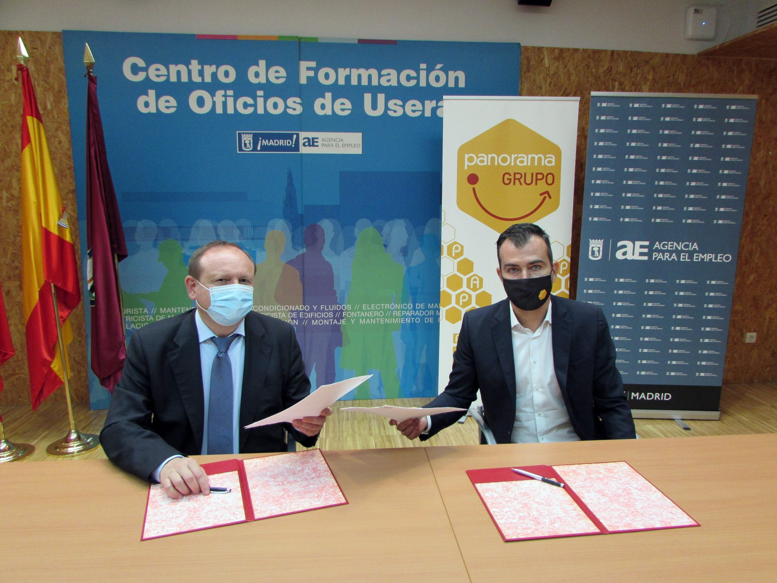 Firmamos un convenio de colaboración con la Agencia para el Empleo de Madrid